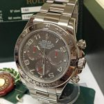 Rolex replica Daytona 116509 White Gold Slate Dial2
