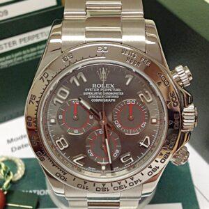 Rolex replica Daytona 116509 White Gold Slate Dial6