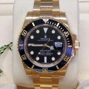 Rolex replica Submariner Date 116618LN Yellow Gold