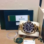 Rolex replica Submariner Date 116618LN Yellow Gold4